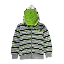 Nike Striped Jersey Hooded Jacked - Grey and Green