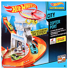 Hot Wheels Copter Port Track Set - 9 X 26 X 26.5 Cm