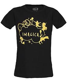 Imagica Half Sleeves T-Shirt Black - Silhouette Logo