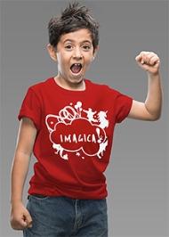 Imagica Half Sleeves T-Shirt Red - Silhouette Logo