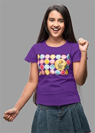 Imagica Crew Neck T-Shirts Sugarbuzz Circles - Purple