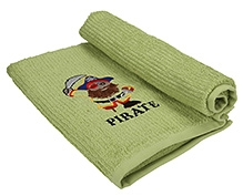Imagica  Digitally Printed Soft And Cute Bath Towel-Green