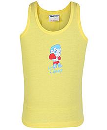 Tango Sleeveless Vest Yellow - Lil Champ Print
