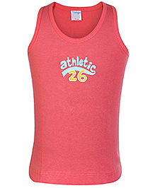 Tango Sleeveless Vest Dark Peach - Athletic Print