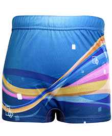 Bosky Swimwear Graphic Print Swimming Trunk - Blue