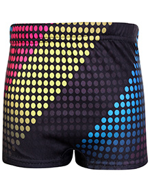 Bosky Swimwear Dotted Print Swimming Trunk - Black And Multi