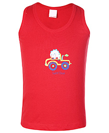Tango Sleeveless Vest Red - Good Days Print