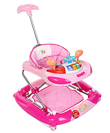 Mee Mee Super Safe Musical Walker Cum Rocker - Pink