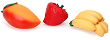Speedage Fruit Family Assorted PVC Fruits - Set of 3