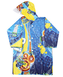Disney Toy Story 3 Jingle Print Raincoat - Blue