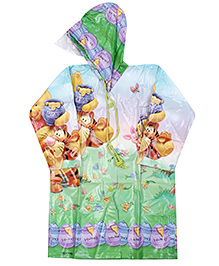 Disney Winnie The Pooh And Tigger Print Raincoat - Green