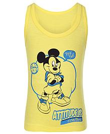 Bodycare Sleeveless Vest - Mickey Mouse Print