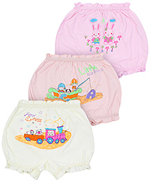 Bodycare Multi Design Bloomers Multi Colour - Set of 3