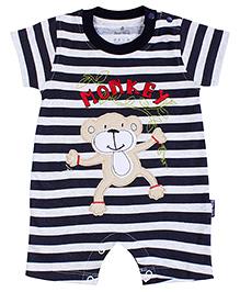 Child World Half Sleeves Romper - Monkey Print