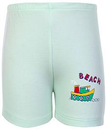 Tango Bermuda Shorts Light Green - Beach Print