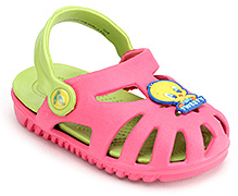 Baby Looney Tunes Clogs with Tweety Applique - Pink and Green