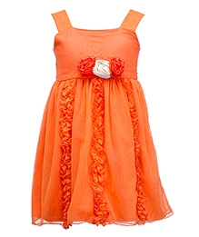 Peaches Singlet Party Frock Orange