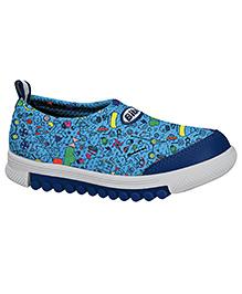Elefantastik Printed Sneakers Sky Blue And Navy