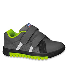 Elefantastik Trendy Leather Sneaker - Black And Grey