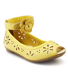Elefantastik Ballerina Cut Work Sandals - Yellow