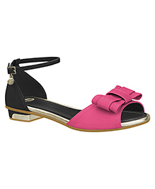 Elefantastik Sandals With Buckle Straps - Black And Magenta