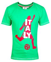 FIFA Half Sleeves T-Shirt Green - Italy Print