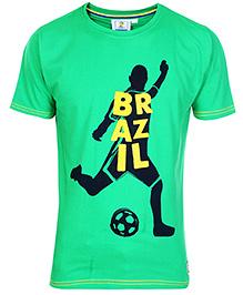 FIFA Half Sleeves T-Shirt Green - Brazil Print