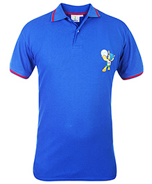 FIFA Polo Neck T-Shirt With Cute Print - Blue and Red