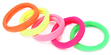 Fab N Funky Hair Rubber Band Multi Color - Set of 5