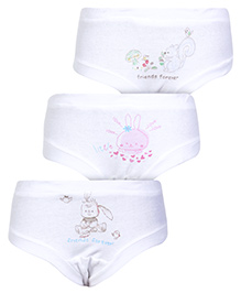 Zero Multi Print Panties White - Set of 3