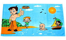 Chhota Bheem Bath Towel - Sky Blue