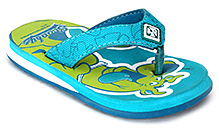 Scooby Doo Flip Flop with Scooby Doo Print - Blue and Green