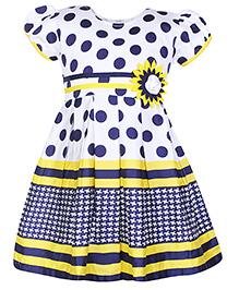 Babyhug Short Sleeves Polka Dot Printed Frock