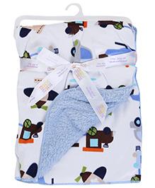 Mee Mee Blanket Car Print - Sky Blue