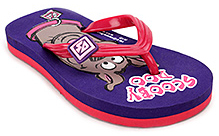 Scooby Doo Flip Flop with Scooby Doo Print - Purple and Pink