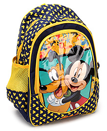 Mickey Mouse and Friends School Bag - Black and Yellow