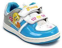 Tweety Shoes with Dual Strap Closure - Blue