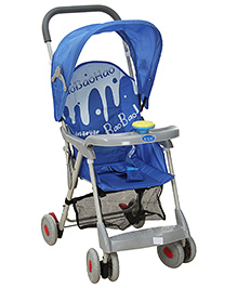 Fab N Funky Stroller With Push Handle and Canopy - Blue