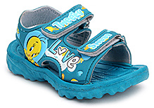 Tweety Flip Flop with Dual Velcro Strap - Blue