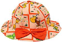 1st Step Animal Print Bucket Hat - Orange