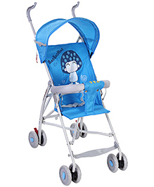 Fab N Funky Stroller With Baby Print - Blue