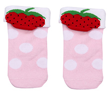 Mustang Ankle Length Socks - Berry Print