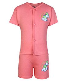 Babyhug Half Sleeves Printed T-Shirt And Shorts Set -