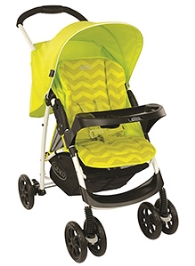 Graco Stroller Mirage Plus Lime Zig Zag