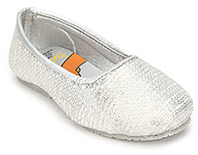 Tweety Belly Shoes with Shine Effect - Silver