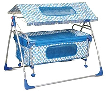 Bajaj Baby Cradle Cum Cot With Canopy - Blue