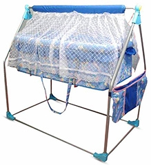 Bajaj Baby Cradle Cum Cot With Mosquito Net - Blue