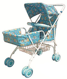 Bajaj Light Weight Stroller 012 With Canopy - Blue