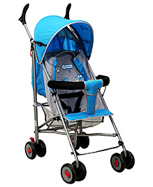 Fab N Funky Light Weight Stroller With Kitty Print - Blue