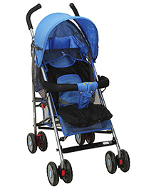 Fab N Funky Stroller With Push Handle - Blue